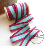 Vintage 25mm Wide Striped Grosgrain Ribbon - 1m
