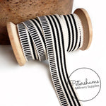 25mm No.5 Irregular Stripe Millinery Petersham Hat Ribbon - 1m