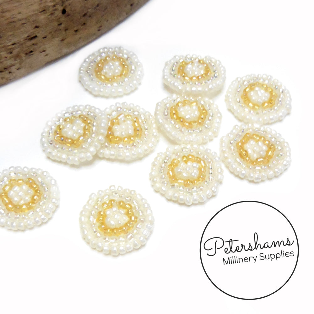 2cm Mini Beaded Circle Motifs