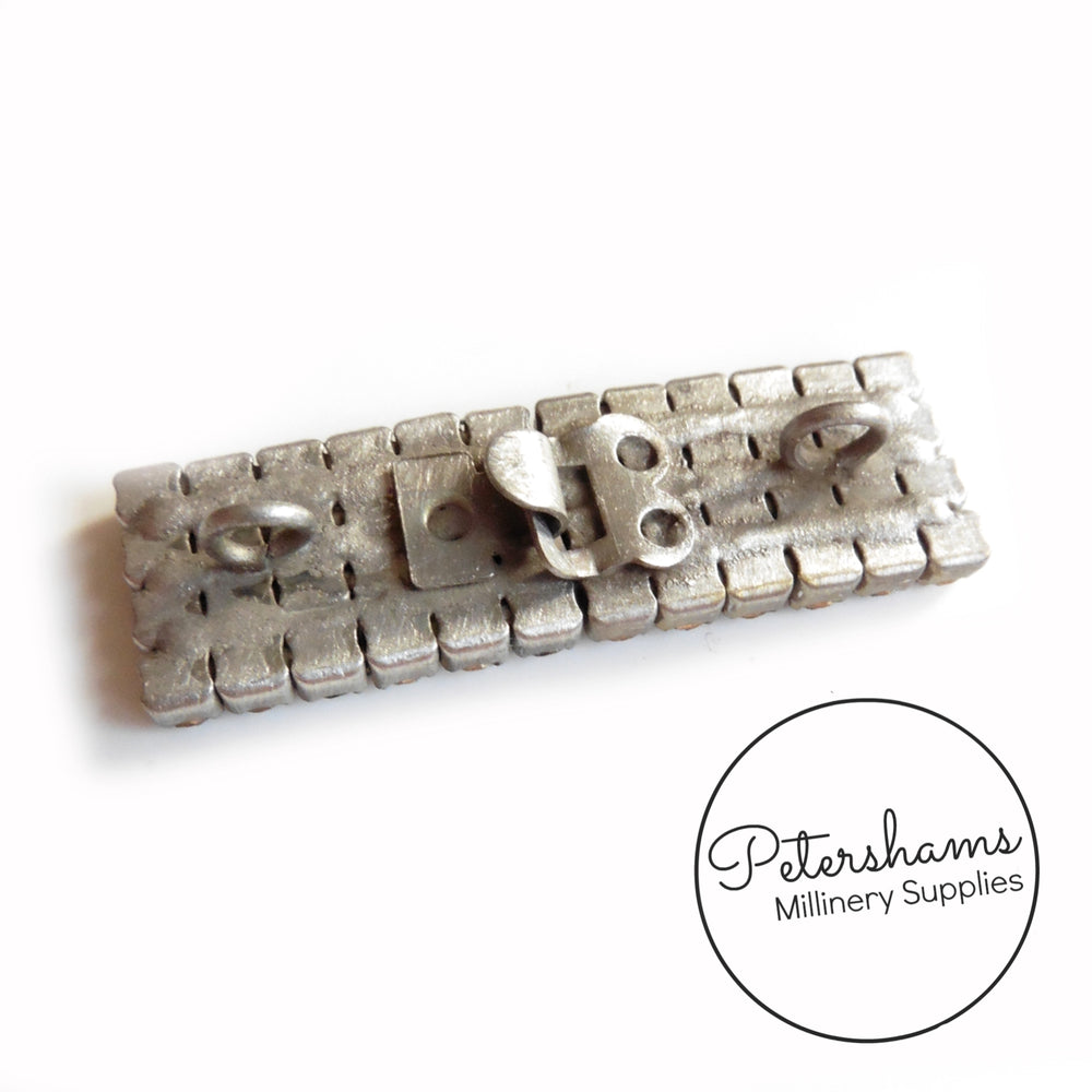 Small Diamante Sew-on Rectangle Buckle
