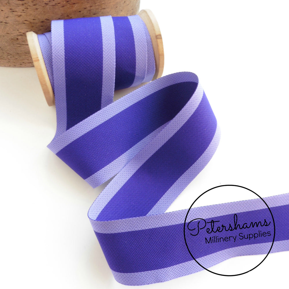 40mm Woven Striped Belting Ribbon -1m