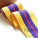 Vintage 10cm (4 inch) Wide Moire Striped Grosgrain Ribbon - 1m