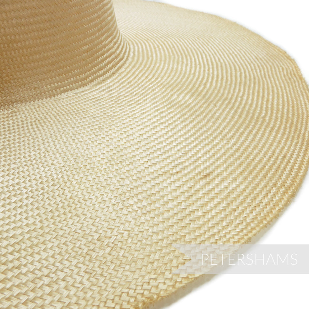 'Great Wall' Vintage 50s/60s Grade 4 Natural Undyed Parasisal Straw Capeline