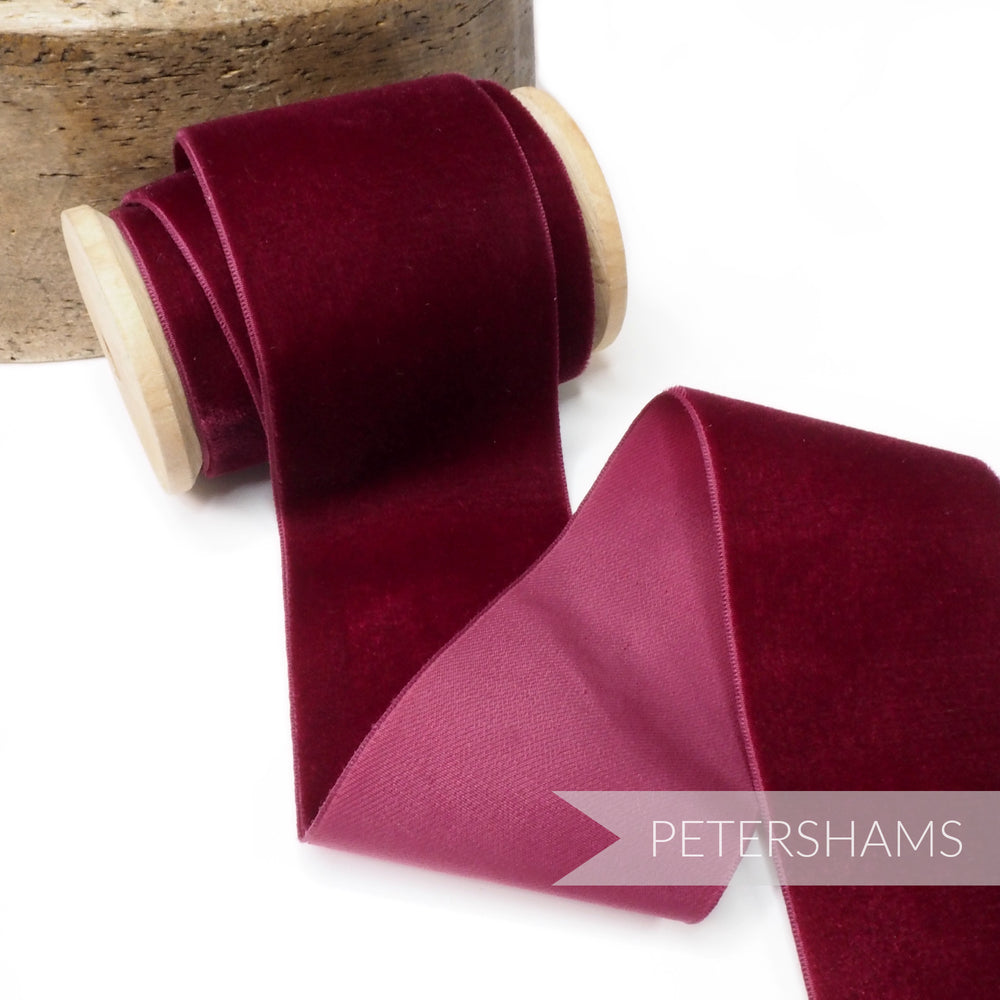 54mm Extra Wide Vintage Velvet Ribbon - 1m