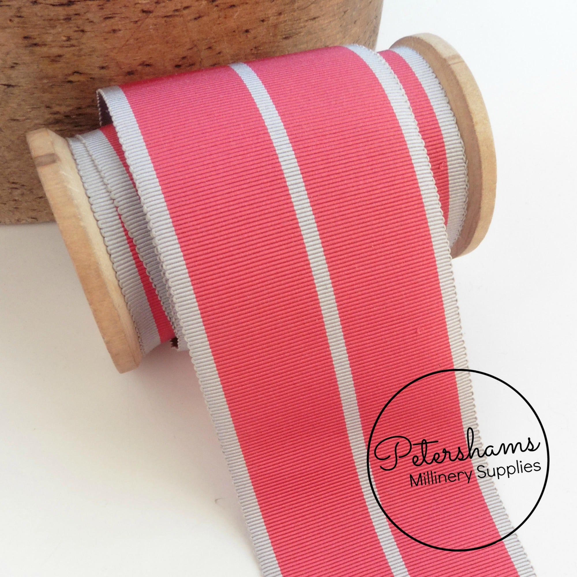 2 Metres 19mm wide V Stripe Ribbon