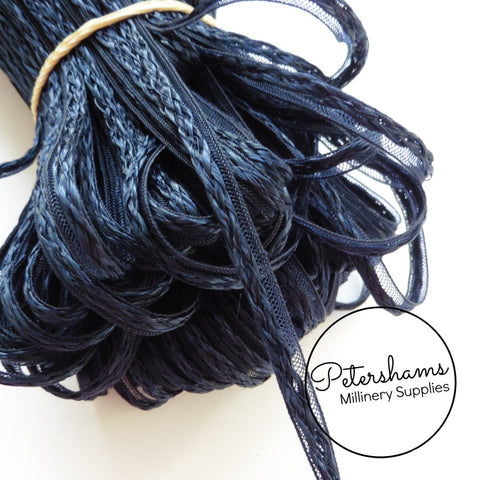 6mm Navy Blue Decorative Swiss Crin Braid
