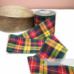 75mm Vintage Berisfords Scottish Tartan Woven Edge Ribbon