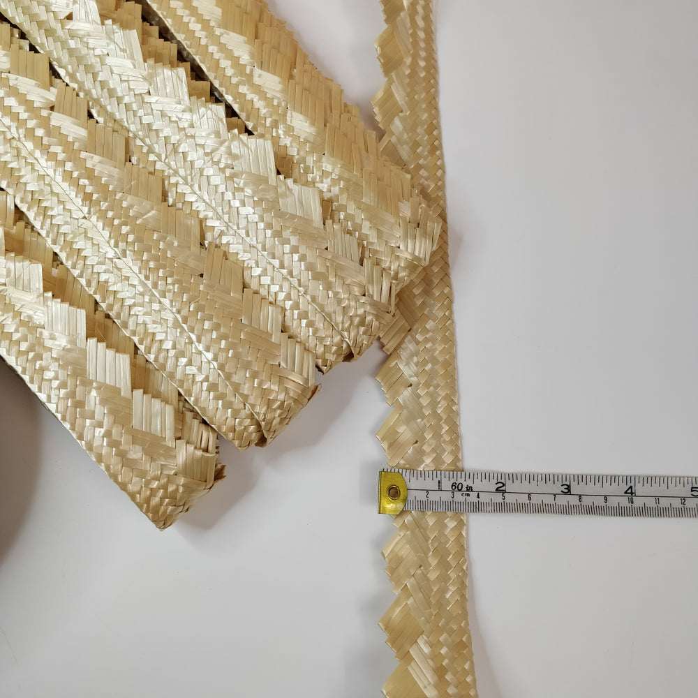 Vintage Diamond Edge Plaited Wheatstraw Braid - 33mm Wide