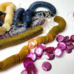 10mm Vintage French Sequins - Embroidery Worm Strings