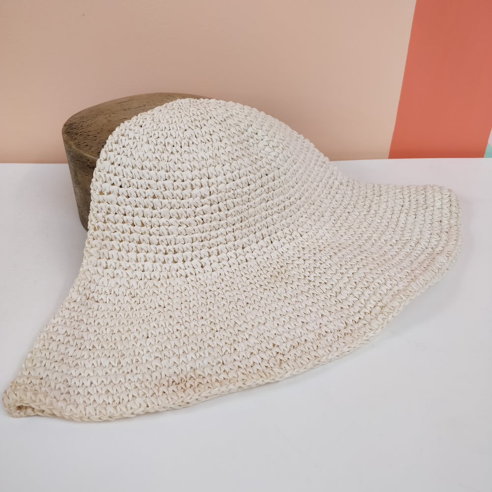 *Slightly Flawed* Paper Vintage 1970's Crochet Flare Hat Body - Simple