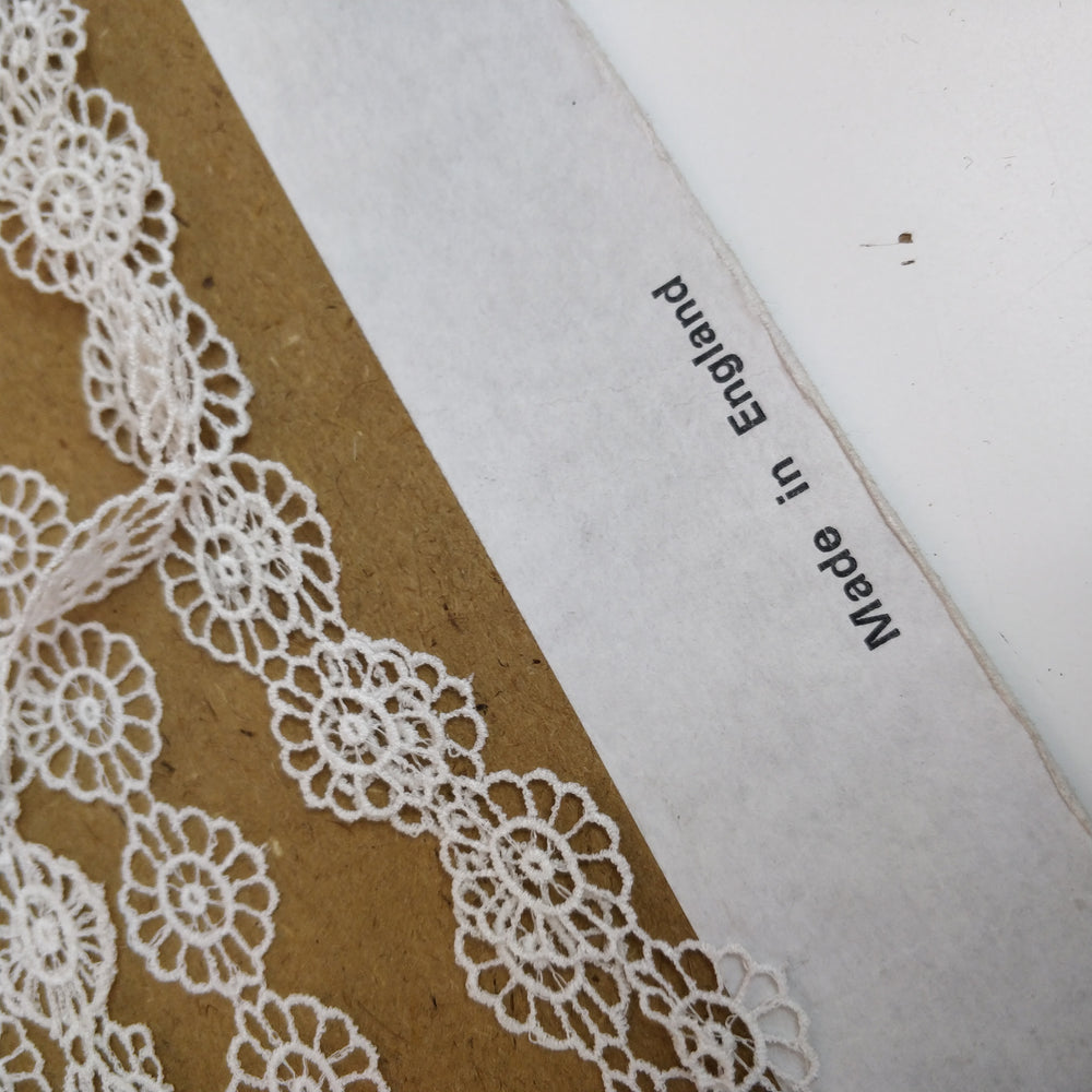 'Delilah' Vintage Cotton 18mm Wide Guipure Lace - 1m