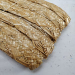 Vintage Scallop Plait Shiny Flat Straw Braid - 21mm Wide