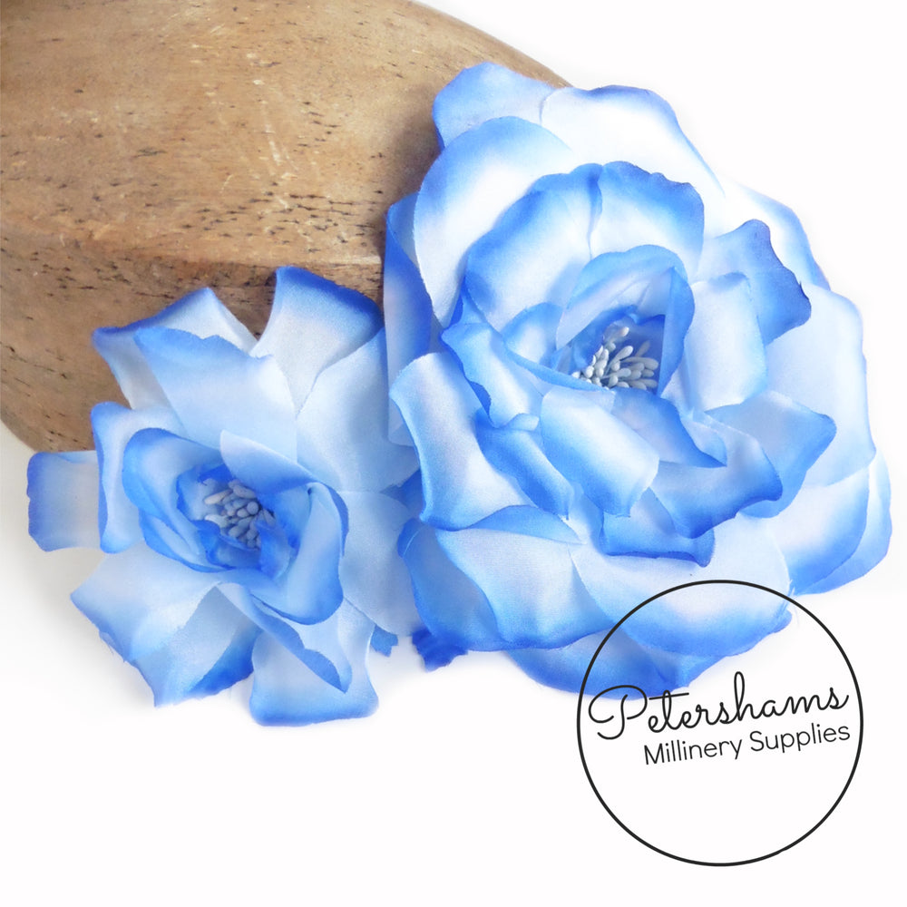 'Sydonie' Silk Contrast Tipped Millinery Double Flower Hat Mount