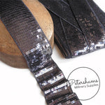 6.5cm Wide Super Soft Flat Sequin Trim - 1m