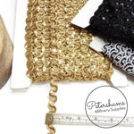 13mm Wavy Teeny Sequin & Metallic Lurex Trim - 1m