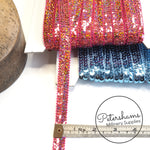 15mm Double Row Knitted Sequin Trim - 1m