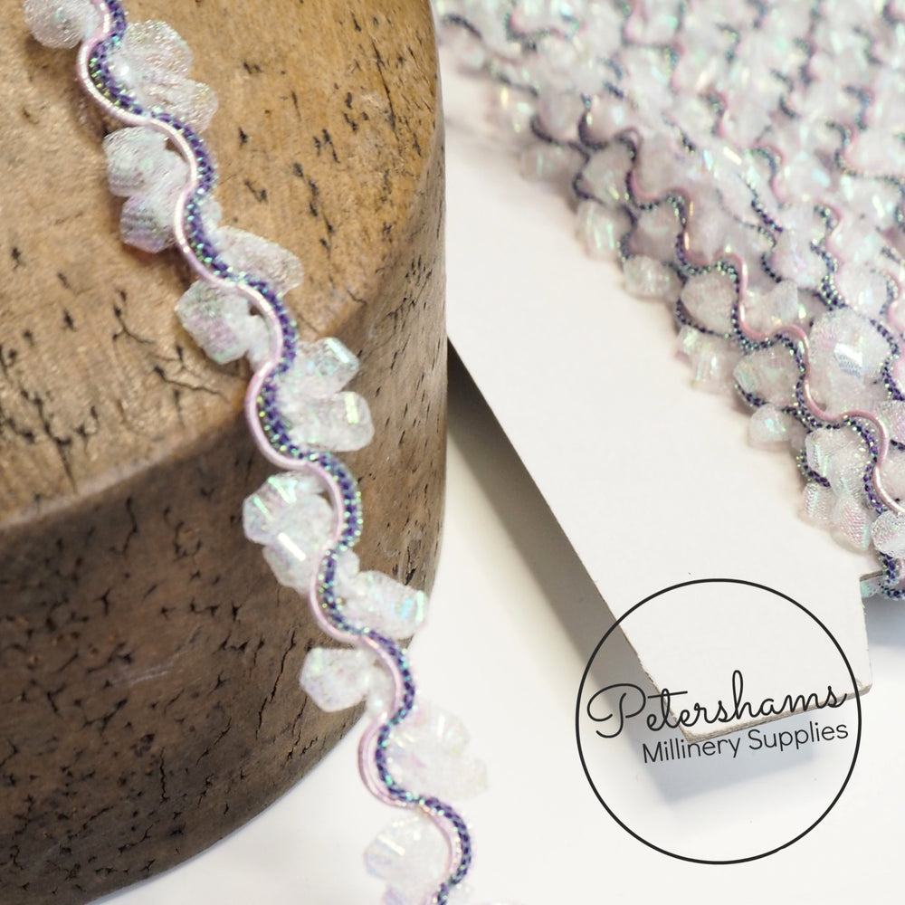 Iridescent Encapsulated Mesh Trim - 1m