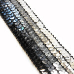 Vintage French 1960s Gradient Sequin 35mm Wide Ribbon - 1m