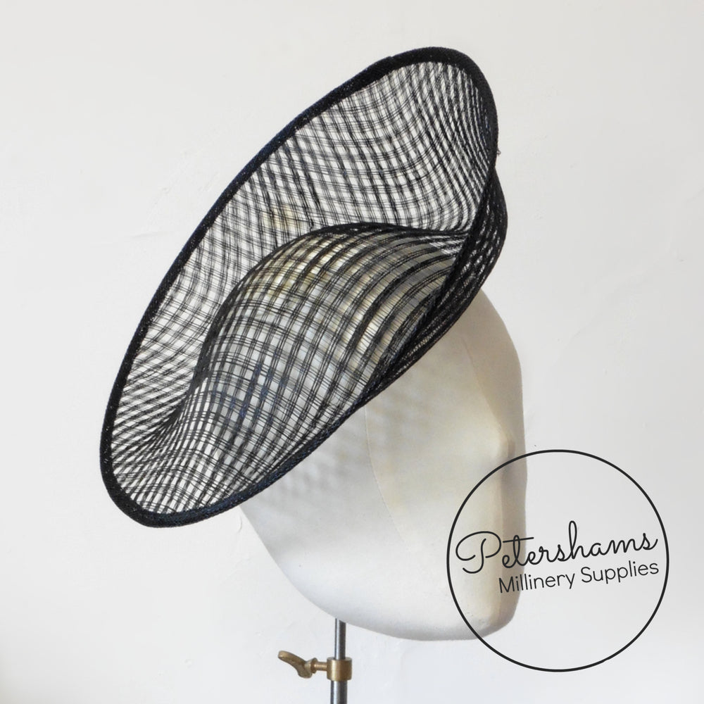 'Amanda' Lattice Weave Sinamay Fascinator Base