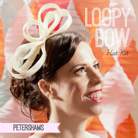 DIY Hat Kit - Make your own Loopy Bow Sinamay Fascinator