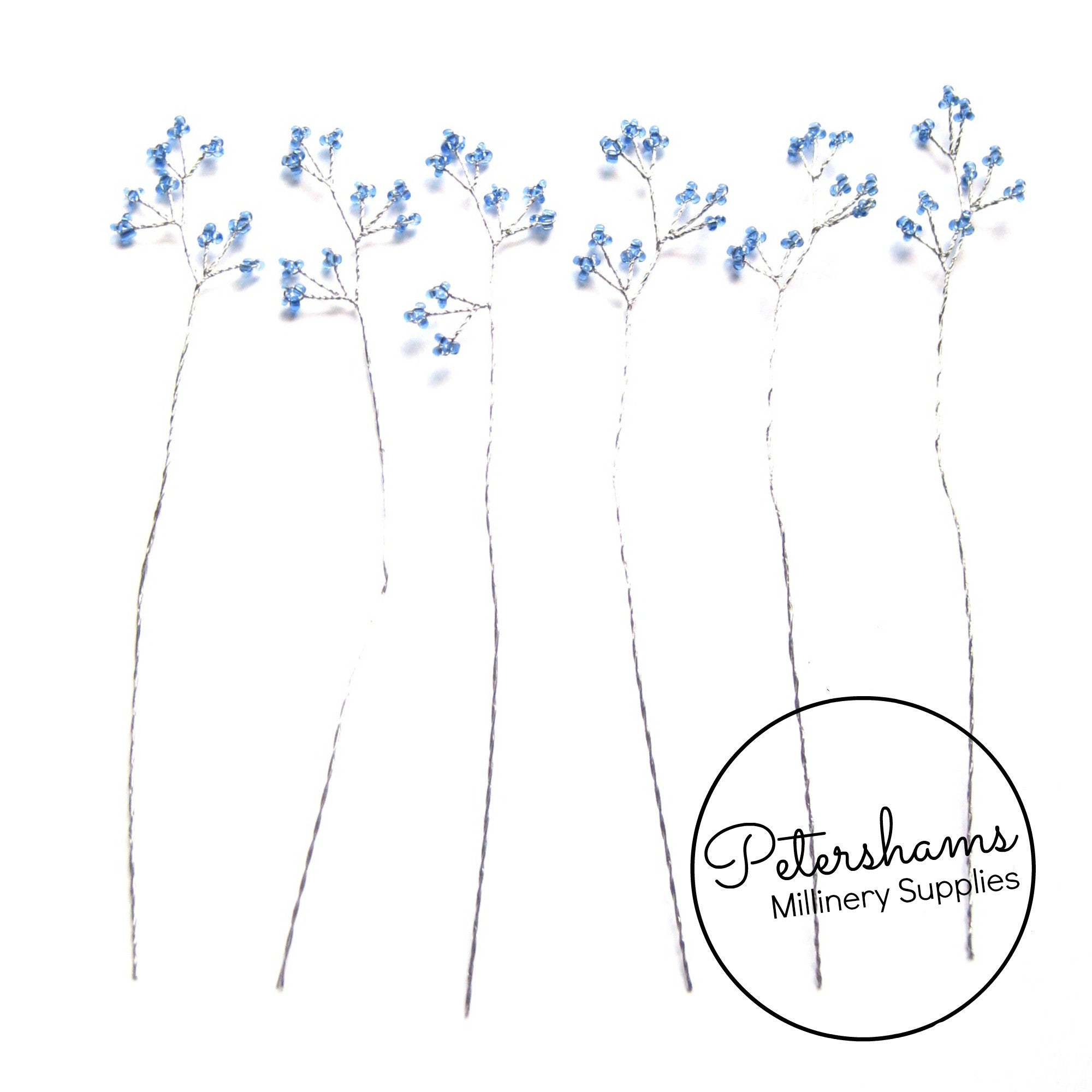 Seed Bead Wired Trees - 6 Stems