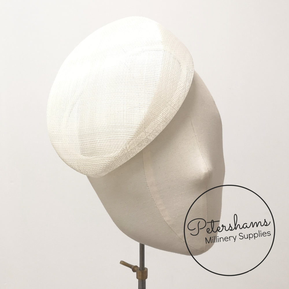'Betty' Sloped Pillbox Sinamay Fascinator Hat Base