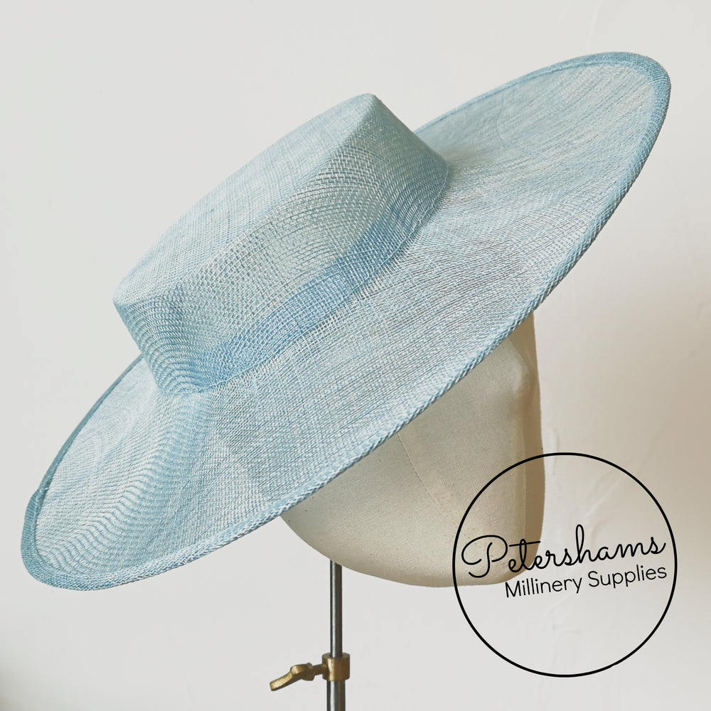 Large Brim Sinamay Boater Fascinator Hat Base