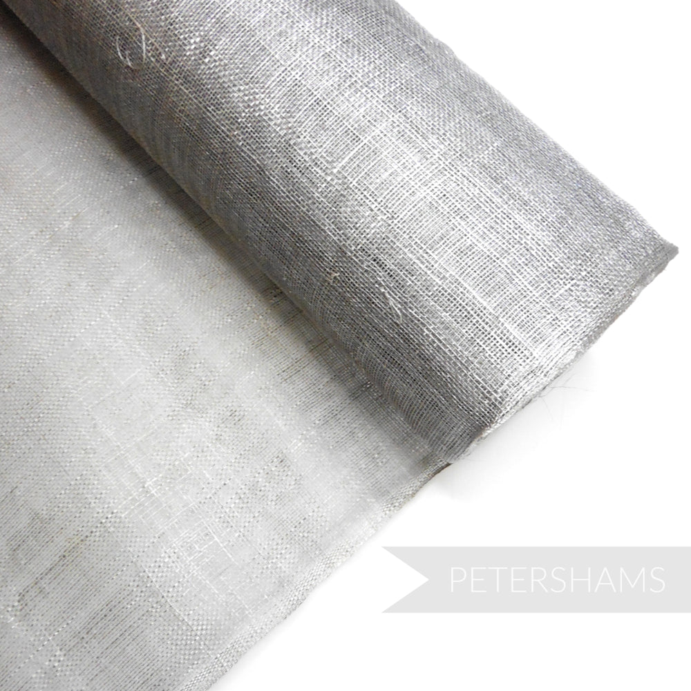 Metallic Finish Sinamay Fabric Plain Colours - 1/2 metre