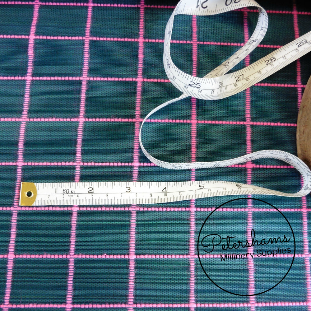 Large Check Design Buntal / Jinsin Fabric - 1/2m