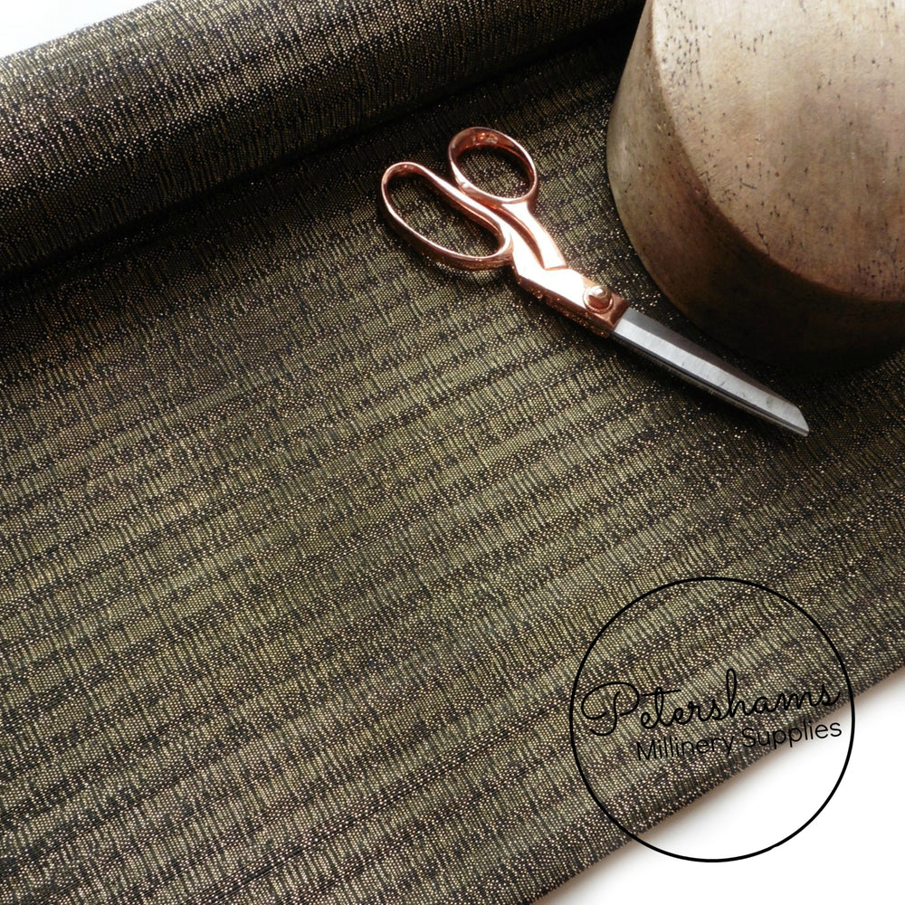 Gold Lurex Threaded Striped Buntal (Jinsin) Fabric - 1/2m