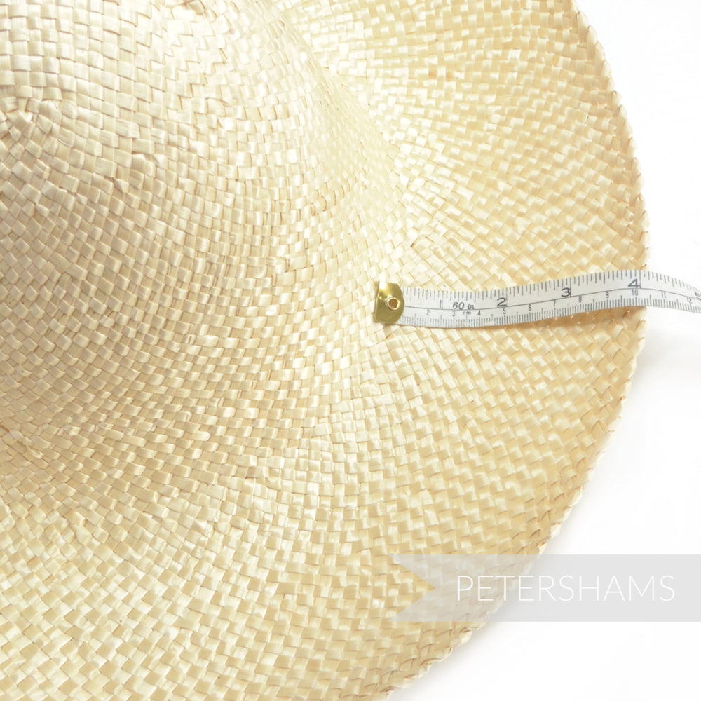 Bleached Wheatgrass Straw Capeline Hat Body - 11""