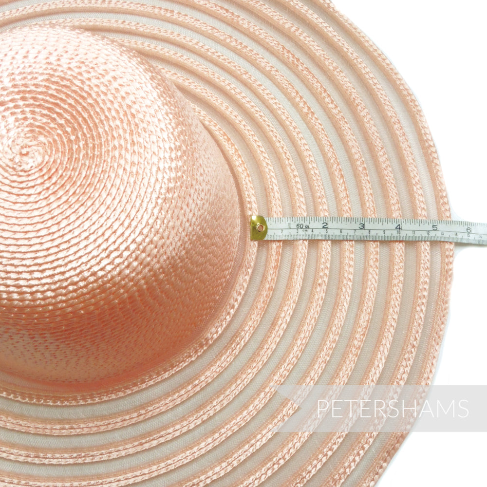 Polybraid Crown with Striped Crin Brim XL Capeline Hat Body - 13""