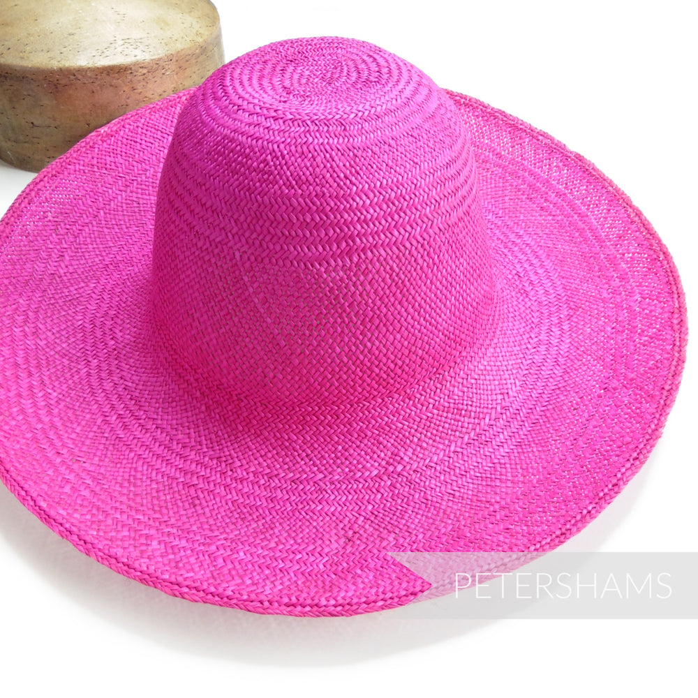Panama Straw Capeline Hat Body - 11""