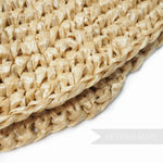 Plaited Crown Faux Straw Capeline - 11""