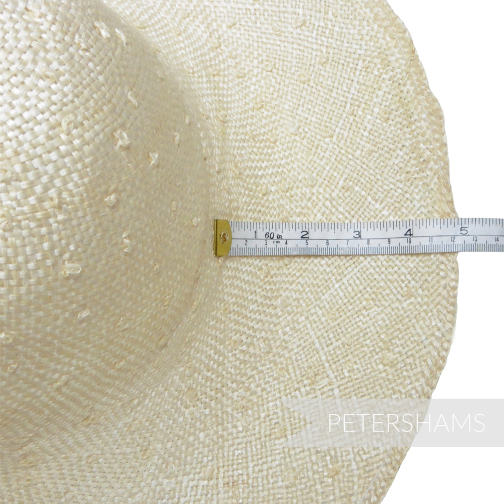 Knotted Natural Ramie Straw Capeline Hat Body - 12-13""