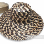 Contrasting Plaited Bark Straw Capeline Hat Body - 12-13""