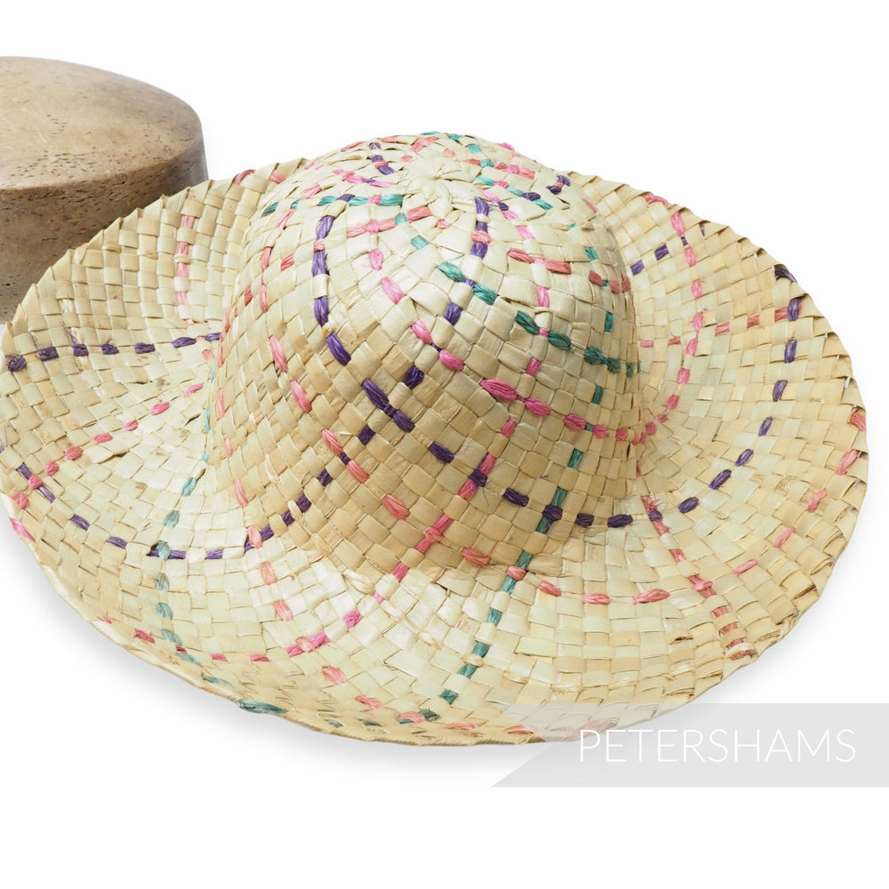 Fiesta Rainbow Natural Straw Capeline Hat Body - 11""