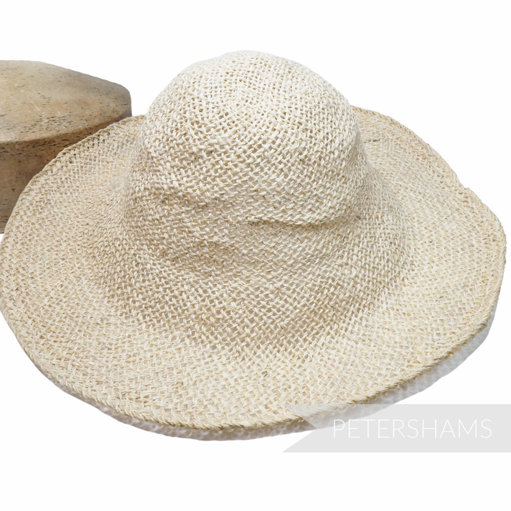 Natural Twisted Jute Capeline Hat Body - 11""