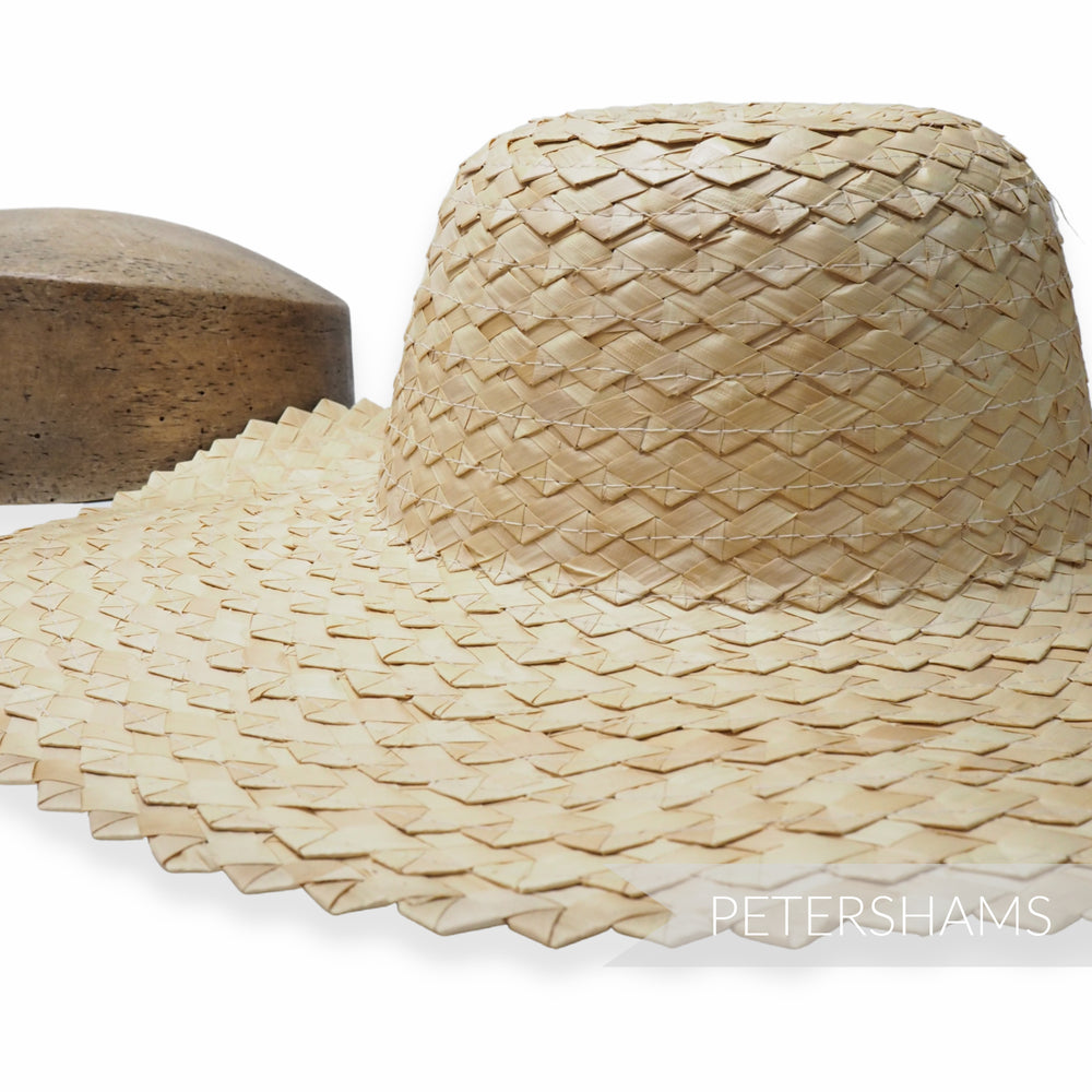 Zig Zag Natural Straw Capeline Hat Body - 11""