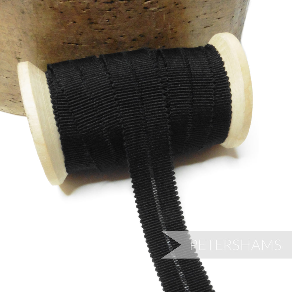18mm Fold-Over Cotton Millinery Petersham Hat Ribbon - 1m