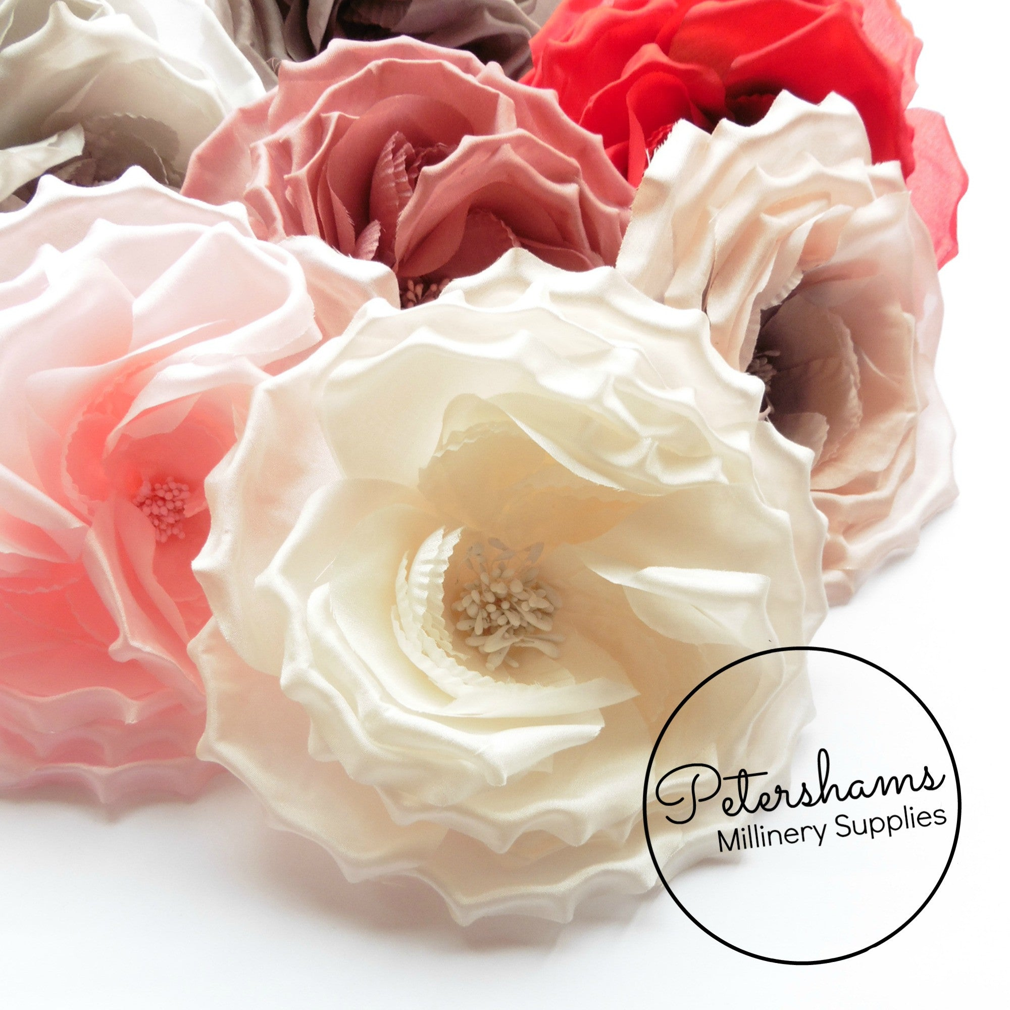 Flowers leaves petershams millinery supplies danielle large 15cm silk rose millinery flower hat mount mightylinksfo