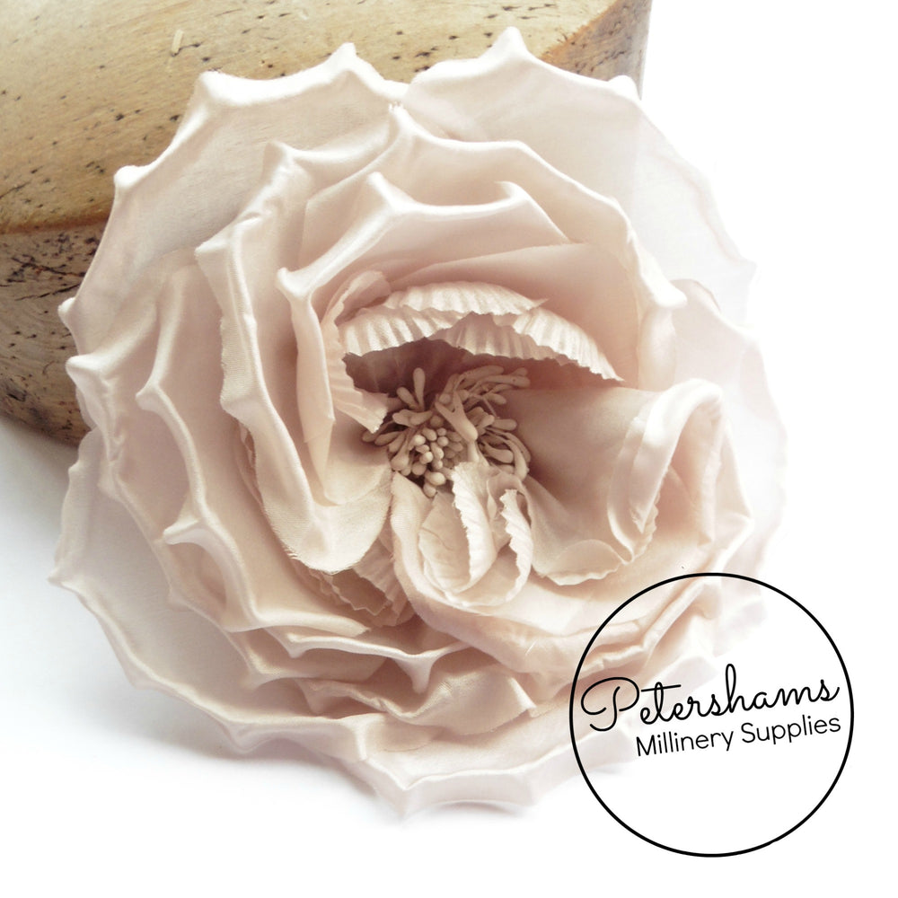 'Danielle' Large 15cm Silk Rose Millinery Flower Hat Mount
