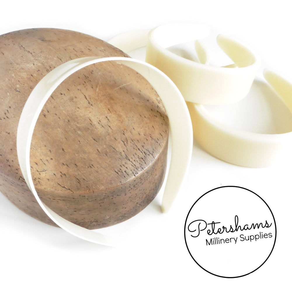 Extra Wide 4cm Plastic Headband Core - Cream