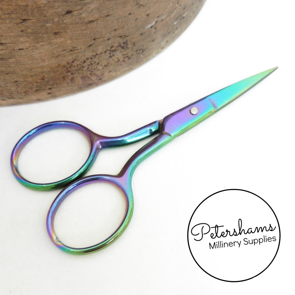Milward Multi-Colour Galaxy Rainbow Embroidery Scissors - 9cm (3.5 inches)