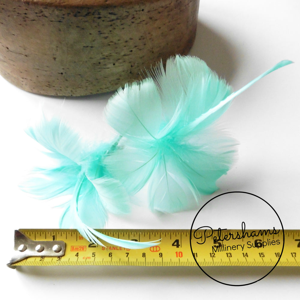 Double Goose Feather Flower Hat Trim