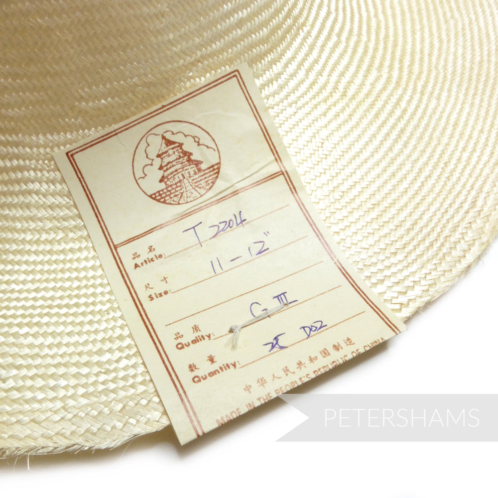 'Great Wall' Vintage 50s/60s Grade 3 Natural Undyed Parasisal Straw Capeline