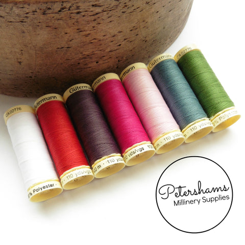 Gutermann 7 Spool Set (100m each) Polyester Sew-All Thread