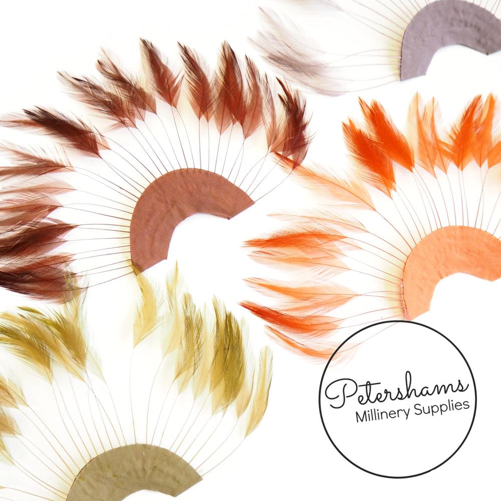 Loose Full Hackle Feather Mixed Selection Packs for Hat Making /& Millinery