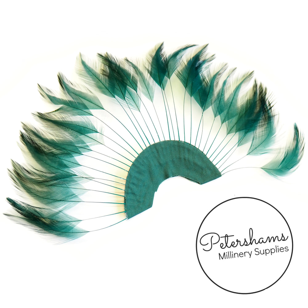 Stripped Hackle Feather Fan