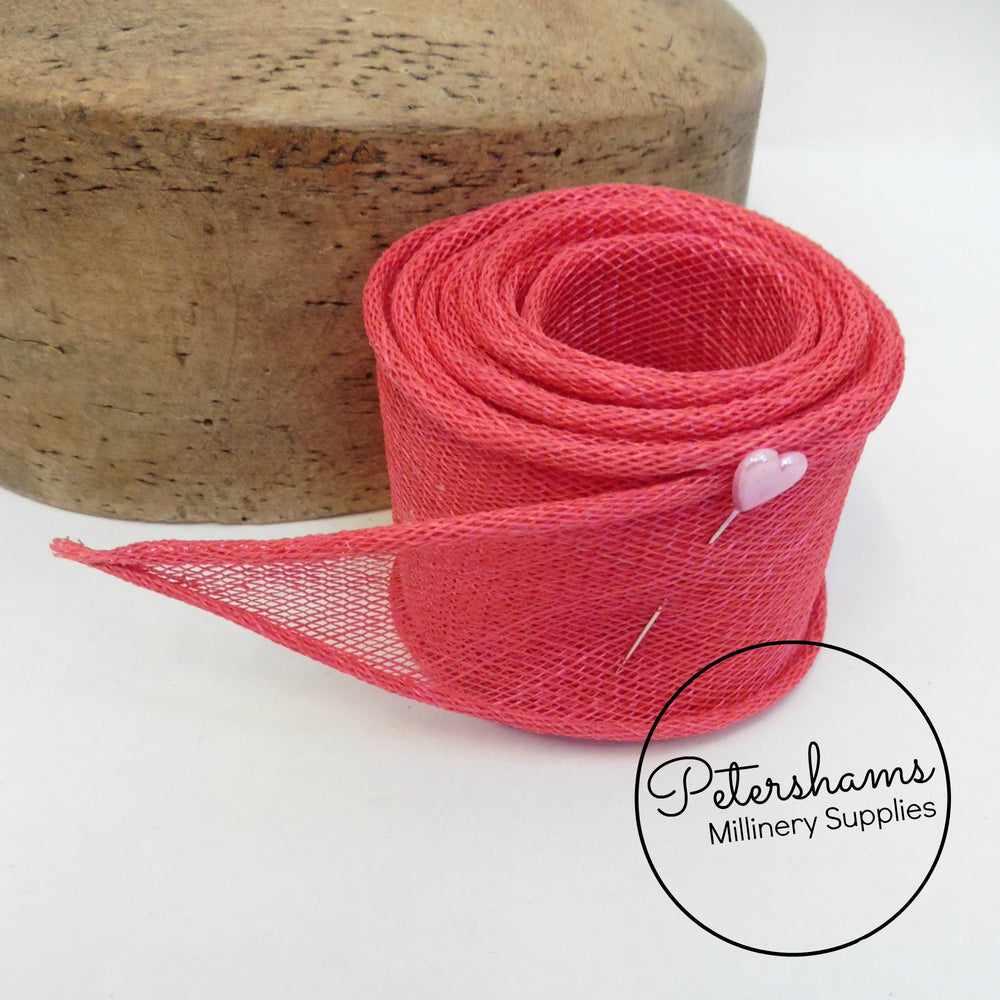Hand Rolled Sinamay Ribbon Trim